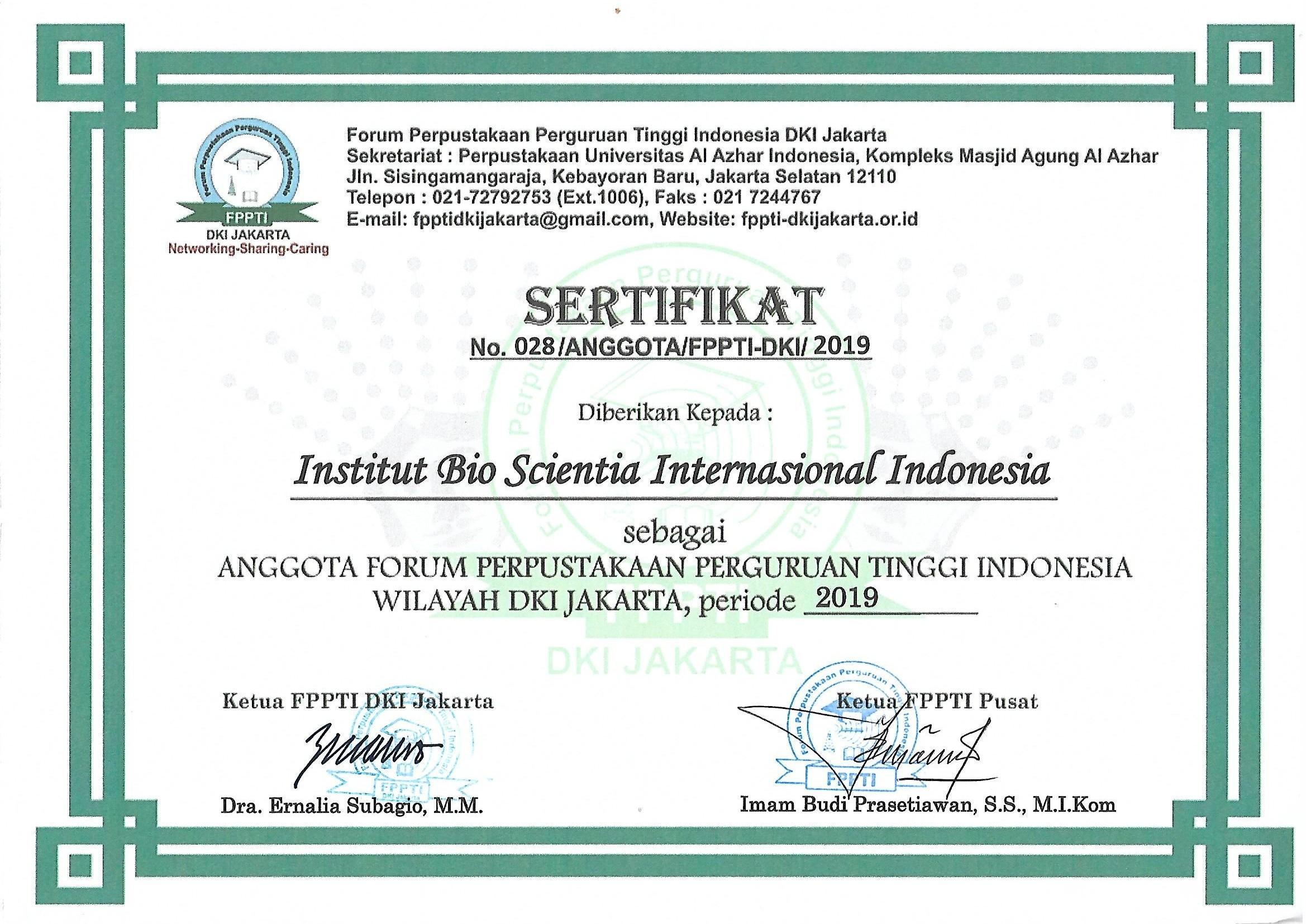 Forum Perpustakaan Perguruan Tinggi DKI Jakarta